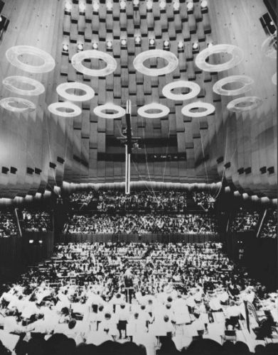 Concert Hall, photo by Wolfgang Sievers, 1973