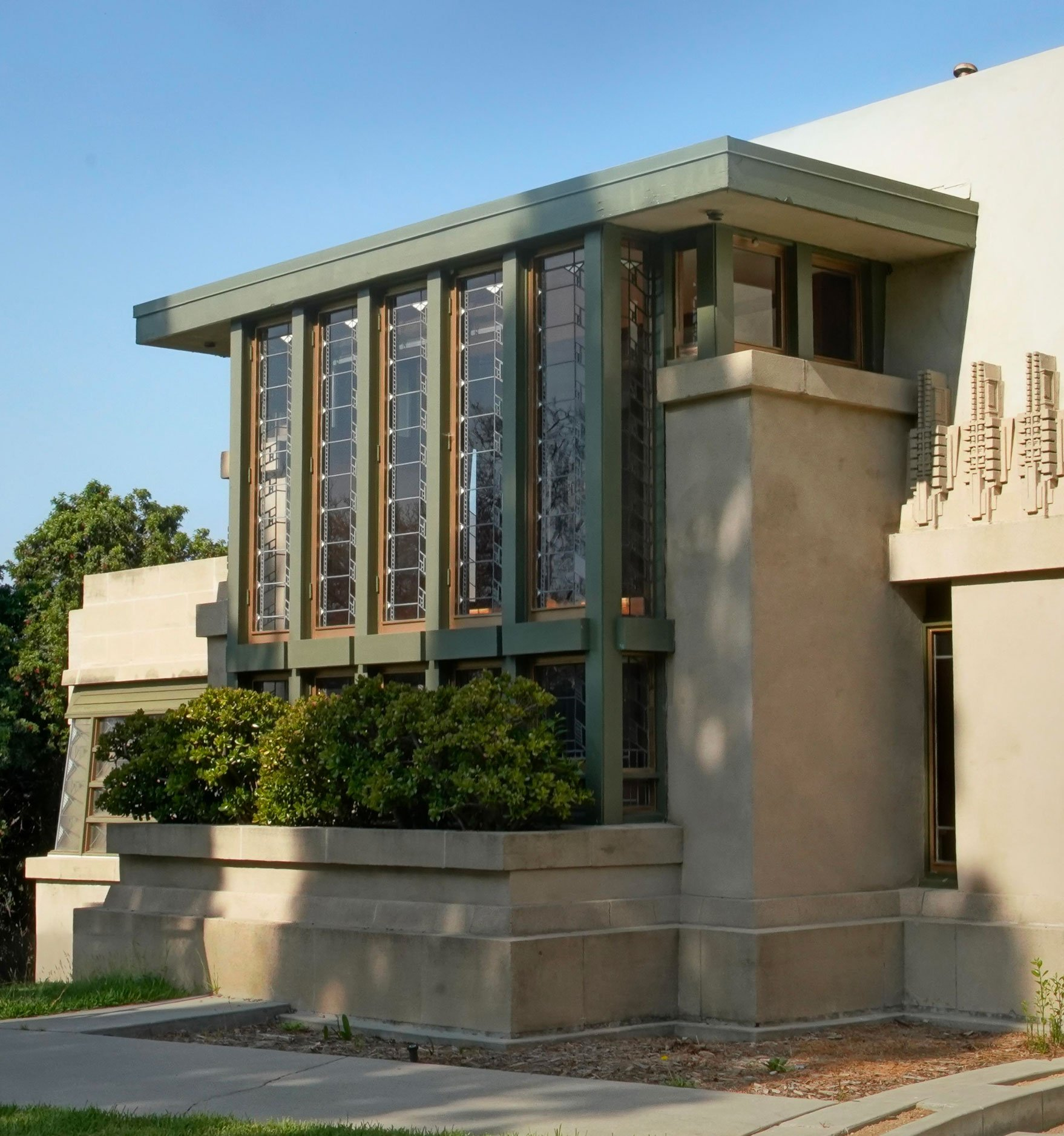 Wright's Hollyhock House East Façade